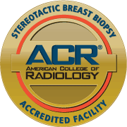 american college of radiology seal for excellence in stereostatic breast biopsy