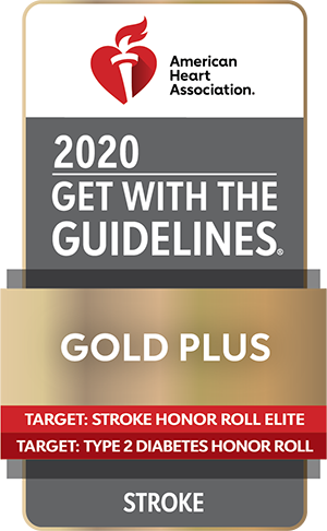 2020 Get with the Guidelines Gold Plus, Target: Stroke Honor Roll Elite Target: Type 2 Diabetes Honor Roll