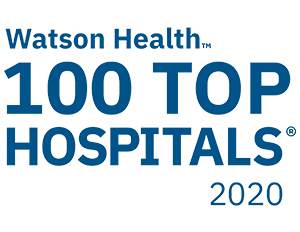 Watson Health Top 100 Hospitals 2020 - 100 Top Hospitals is a registered trademark of IBM Watson Health